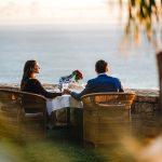 A couple enjoys the gorgeous ocean view at 21 Nettleton